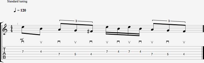 Partition de l'exercice de figure rythmique #1