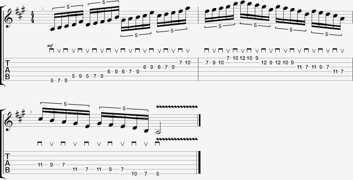 Partition de l'exercice de figures rythmiques #2 - quintolets #2