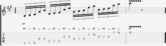 Partition de l'exercice de figures rythmiques #2 - quintolets #3