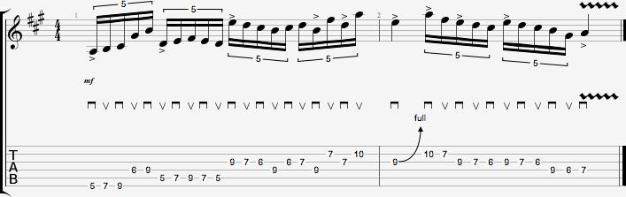 Partition de l'exercice de figures rythmiques #2 - quintolets #4
